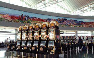 Gokkasten op vliegveld Las Vegas