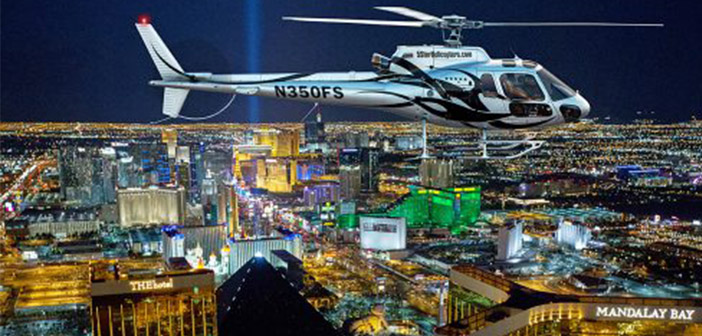 Helikoptervlucht maken over de Las Vegas Strip