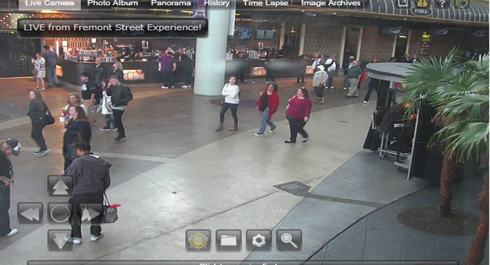 4. Webcam in Downtown Las Vegas op Fremont Street
