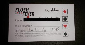 Flush Fever kaartje