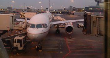 Ons vliegtuig naar New York