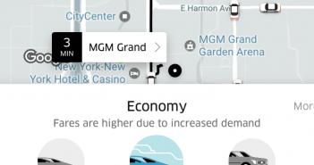 Uber gebruiken in Las Vegas