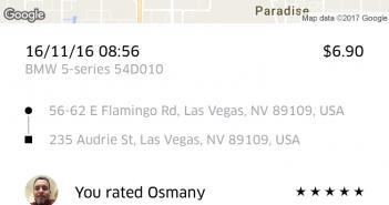 Uber app gebruiken in Vegas