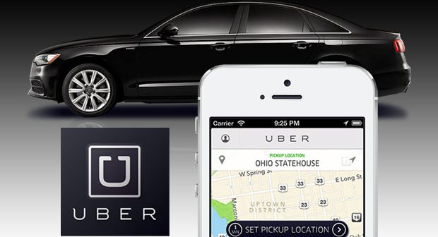Een Uber nemen in Las Vegas