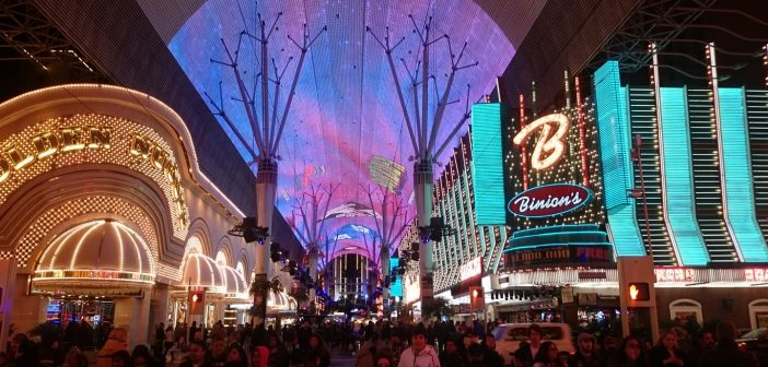 Fremont Street Experience by night Las Vegas